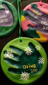 diy salt dough handprint ornaments i the paint on these