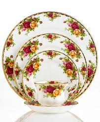 roses china royal albert country roses 5 place setting china