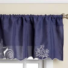 Blue Curtain Valance Curtain Nautical Valances U0026 Kitchen Curtains You U0027ll Love Wayfair