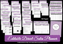 printable direct sales planner u2013 editable