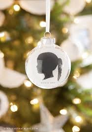 simple diy silhouette keepsake ornaments