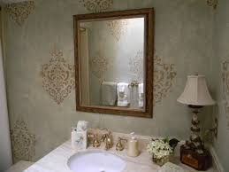 bathroom stencil ideas bathroom eclectic powder room miami by of the essence designs