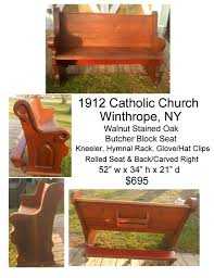 antique church pews for sale 1912 catholic church pew