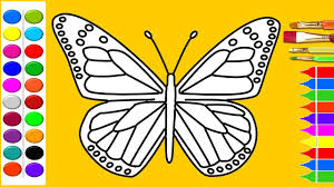 coloring pages of butterfly how to draw butterfly coloring pages art colours for kids