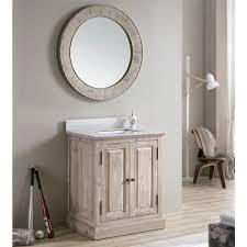 driftwood 31 inch quartz marble top single sink bathroom vanity