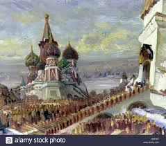 a reproduction of fyodor fedorovsky s scenery sketch for mikhail