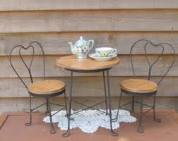ice cream parlor table and chairs set ice cream parlor chair etsy