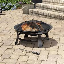 Backyard Fire Pit Grill by Amazon Com Pleasant Hearth Brant Round Fire Pit 30 Inch
