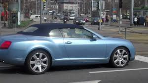 blue bentley light blue bentley continental convertible in zurich switzerland