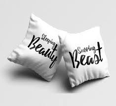 throw pillow set of 2 couples funny white pillow cases