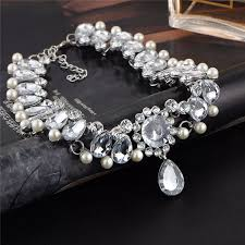 pearl crystal statement necklace images 17km boho vintage water drop simulated pearl crystal statement jpg