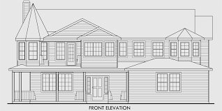 turret house plans house plan turret sitting rm side load garage wrap a