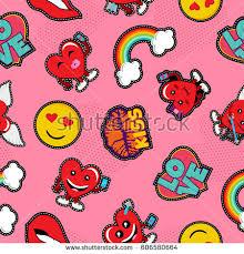 background stitch valentines day seamless pattern background stitch stock vector