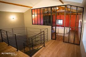 verriere chambre verrière séparative entre chambre et salle de bains