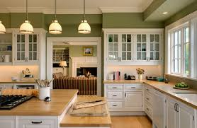 In The Green Kitchen - paint color co ordinating with gray screen sw 7071