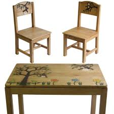 Toddler Table And Chairs Wood Furniture Home Ttgn Delta Natural Table And Chair Set Roomkids