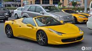 ferrari yellow 458 ferrari 458 spider 27 february 2017 autogespot