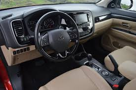 outlander mitsubishi 2015 interior 2016 mitsubishi outlander 3 0 gt s awc review car reviews and