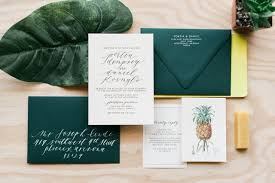 palm tree wedding invitations tropical hawaiian calligraphy wedding invitations