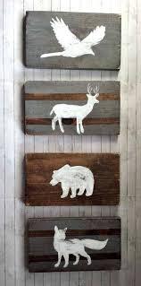 Deer Nursery Decor Woodland Nursery Decor Reclaimed Wood Set Tribal Decor Rustic