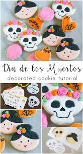 dia de los muertos decorated cookies with help from sweet