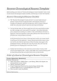 resume chronological format chronological order resume exle exles of resumes
