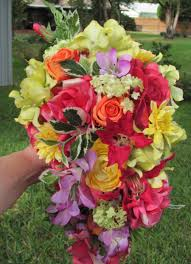 tropical bridal bouquet a cascading bridal bouquet for a bride who