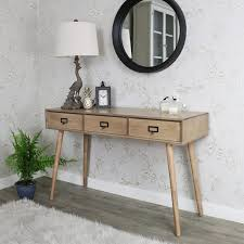 Retro Console Table Three Drawer Console Table Brixham Range Melody Maison
