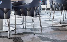 bolon woven vinyl flooring in the era field football stadium