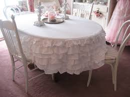 decorating rectangular dining table with burlap tablecloth and