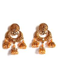 jhumka earrings online shopping buy tricolor jhumka earrings stones jhumka online