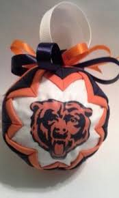 chicago bears fabric quilted ornaments quilted ornaments