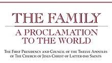 family proclamation the family a proclamation to the world