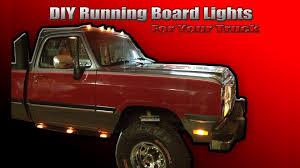 led lights for pickup trucks diy running board lights for your truck youtube