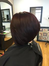 red brown long angled bobs angled bob red brown hair color hair by me pinterest red