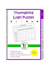 critical thinking thanksgiving logic puzzles by everyday learning