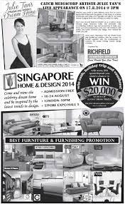 singapore home u0026 design show singapore expo 16 u2013 24 aug 2014