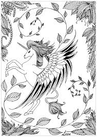 leen margot unicorn myths u0026 legends coloring pages for adults