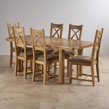 canterbury extending dining set table 6 sage fabric chairs