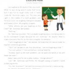 loud and rude reading comprehension worksheet