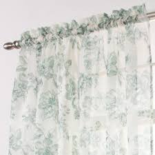ashley floral sheer toile panel stylemaster curtainshop com