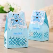 baby shower favor boxes aliexpress buy pink and blue baby favors boxes baptism
