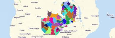 map of zambia map of zambia districts mapline