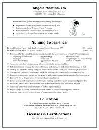 resume format for nursing resume exles for nursing students