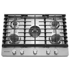 Ikea Cooktop Reviews Whirlpool 30 In Gas Cooktop In Stainless Steel With 5 Burners