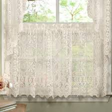 decoration dining room curtains and valances 3 piece kitchen