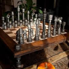 chess styles amazon com upcycled industrial cast iron pipe chess set with