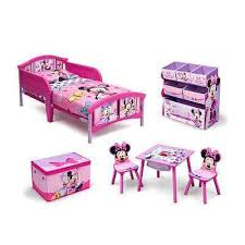 Minnie Bedroom Set by Bedroom Set Disney Minnie Mouse Complete Room Bed Toy Bin Box