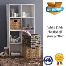 Cubic Bookshelf Cube Storage Bookshelves 8 Shelves Ebay