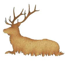 stag deer wood shape style 1 for altered and craft projects